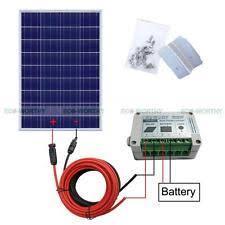 24v solar battery charger complete kit:100watt poly solar panel system for 12v rv boat battery charger