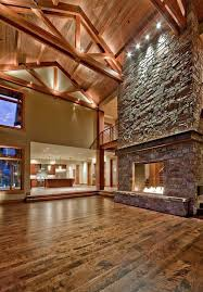 Image False Awesome Stone Fireplace Design Accent Lighting Cathedral Ceiling Wood Flooring Pinterest Awesome Stone Fireplace Design Accent Lighting Cathedral Ceiling