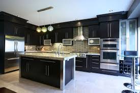 ... Black Rectangle Modern Wooden Top Kitchen Designs Stained Design For Kitchen  Designs Photo Gallery ...
