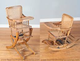 antique baby high chair that also transforms into a rocking chair they just don