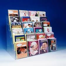 Greetings Card Display Stands 100 Tier Counter Greeting Card Rack Acrylic Card Display Stand 68