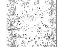 Connect The Dots And Coloring Page With Panda Bear By Ratselmeister