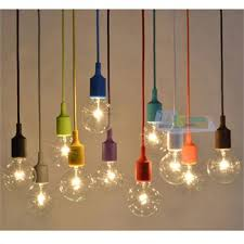 colored pendant lighting. multi color e27 silicone ceiling lamp holder pendant lighting colored