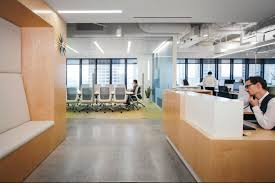 Modern office style Ultra Modern View In Gallery Homedsgn Spacious And Modern Offices With Marked Industrial Style