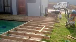 Wood Pool Deck Wooden Pool Deck In Hillcrest Durban Youtube