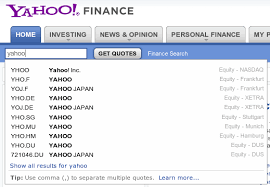 Yahoo Quotes