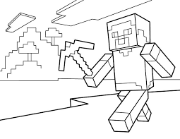 Steve Pdf Printable Coloring Page Minecraft Minecraft