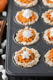 thanksgiving rice krispie treats. Beautiful Thanksgiving Mini Pumpkin Pie Rice Krispie Treats Are Perfect For The Fall And  Thanksgiving Kids Inside Thanksgiving Rice Krispie Treats The First Year Blog