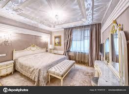 Interieur Design Schönes Schlafzimmer Luxusvilla Stockfoto