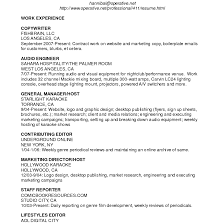 sample cv resume for teachers dissertation conclusion ghostwriter  sound engineer resume for study multi talented resume example audio engineer and copywriter throughout
