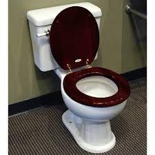 luxury toilet seat mahogany bathroom designer solid oak wood round