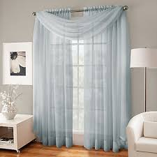image of Crushed Voile Platinum Collection Sheer Rod Pocket Window Curtain  Panels