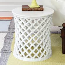 metal drum end table round coffee freedom nz