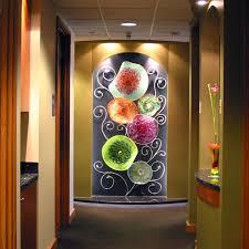 blown glass wall art