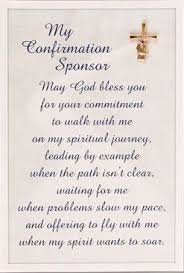 honor the tradition of choosing a sponsor for your confirmation with a blessing in a letter nv
