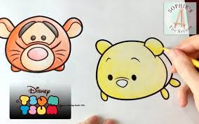 Disney Tsum Tsum Coloring Pages Adorable Tigger And Winnie The Pooh