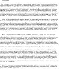 the cons of globalization an essay against globalization jpg argumentative essay about business