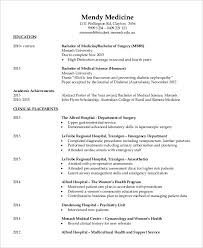 Resume Templates For Doctors 21 Cv Format Doctor Medical Template