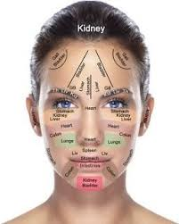 Chinese Medicine Acupuncture Facial Diagnosis Chart