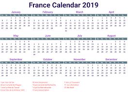 Calendar 2019 Printable With Holidays 2019 France Holidays Calendar 2019 Calendars Holiday Calendar