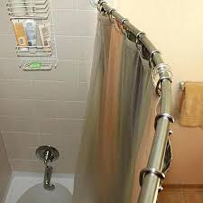 curved shower curtain brushed nickel rotating rod improvements intended for designs 8 neverrust aluminum tension zenna