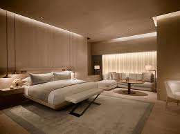 The bedroom takes center stage in a luxury hotel suite. Image Source:  Trilogy Construction