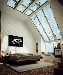 Bedroom: Small Bachelor Bedroom With Glass Window - Bachelor Pad Bedroom