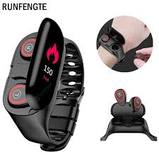 <b>RUNFENGTE</b> M1 Newest 2 In 1 AI Smart Watch With Bluetooth ...