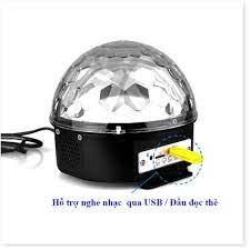 Đèn LED Quả Cầu Cảm Ứng Xoay Pha Lê 7 Màu Nháy Theo Nhạc Bluetooth Tích Hợp  Loa DC-BL300 giá cạnh tranh