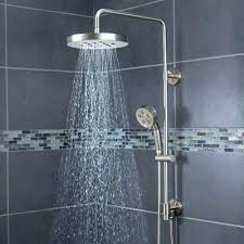dual shower head systems shower head systems architecture round rain shower head with handheld combo attractive
