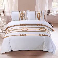 brown and white line print unique abstract hotel style twin full queen size bedding sets