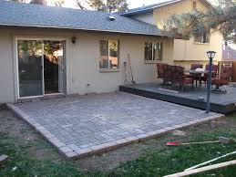 amazing paver patio diy 4 build wood deck over concrete