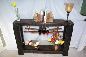 sofa table with wine storage. Rustic Sofa Table/Wine Storage Sofa Table With Wine Storage W