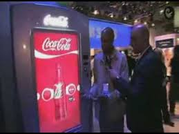 Coca Cola Touch Screen Vending Machine Delectable Samsung Touchscreen Vending Machine For Coca Cola YouTube