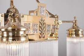 Wiener Jugendstil Kristallglas Kronleuchter I Casa Lumi