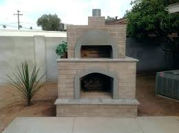 outdoor fireplace with pizza oven brick phoenix desert crest and combination plans