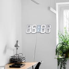 Horloge Design Us 10 84 26 Off Horloge Murale Design Moderne Digital Wall Clock Wanduhr Display Led Digital Clock Wall Home Decor Office Clocks Wandklok In Wall