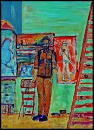 saatchi art artist stefan kibellus painting portrait peter doig art