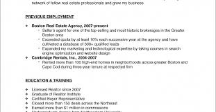 Realtor Resume Example Talent Agent Sample Resume Excel Vba