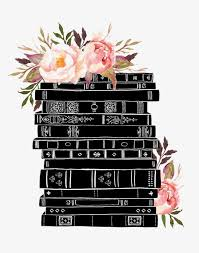 books book books decoration watercolor flowers drawing books
