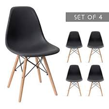 Modern chair plastic Italian Devoko Mid Century Modern Style Pre Assembled Dining Chair Dsw Classic Plastic Side Chair Armless Living Amazoncom Devoko Mid Century Modern Style Pre Assembled Dining
