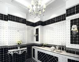 spacious all white bathroom. Black Tub, White Tiles Spacious All Bathroom A