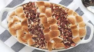 sweet potato casserole recipe with marshmallows and pecans. Fine Potato Sweet Potato Casserole With Marshmallow U0026 Pecan Topping      YouTube And Recipe With Marshmallows Pecans P