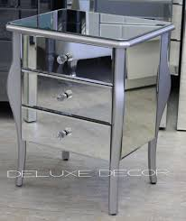 smoked mirrored furniture. Annette Silver Edge Mirrored Furniture Set \u2013 2 X Bedside \u0026 1 Chest | Deluxe Decor Smoked