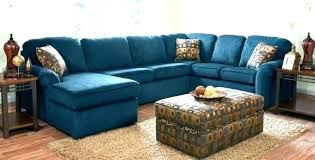 blue sectional sofa navy living room wrap around reclining with recliners