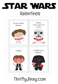 Be a love jedi with these star wars valentine gift ideas, the mary. Free Star Wars Valentine Printables Thrifty Jinxy