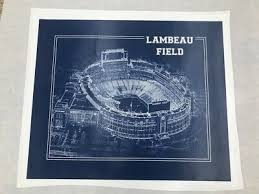 29x36 Lambeau Field Seating Chart Print Canvas Giclee Home