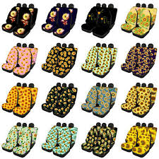 sunflower car seat covers for women