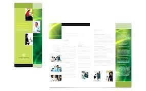 Fold Folder Template Brochure Free 3 Word Design Mac Bi Psd
