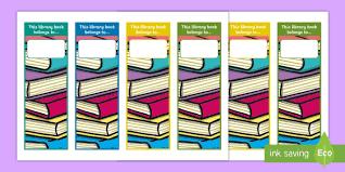 Library Loans Editable Bookmarks Book Mark Books Borrowing Reading